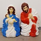 VTG Nativity Blow Mold Grand Venture Jesus Mary Joseph 1999 Outdoor Lighted Yard