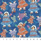 Northcott Arctic Snow by Barbara Lavallee 20650 44 Navy Toss BTY Cotton Fabric