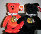 Ty STANLEY SET - Chicago Blackhawks Beanie Baby Bears (Exclusive)(8.5 Inch) MWMT
