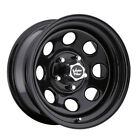 4 NEW Vision 85 Soft 8 16x8 5x127 5x5 12mm Gloss Black Wheels Rims