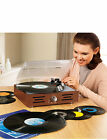 Retro Record Player with Built In Speakers