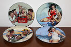 Collectible Set of 4 Coca-Cola Sakura Advertisement Dining Plates!