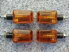 Honda CB 250 350 400 500 650 900 Shadow 750 Black/Amber MOTORCYCLE TURN SIGNALS