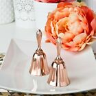 20 Excellent Ringing Quality Rose Gold Metal Kissing Bell Wedding Gift Favors