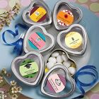 50 Personalized Heart Shaped Mint Tin Wedding Shower Party Gift Favors