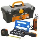 Toolbox With Tools Screwdriver Bits Allen Key Tape Measure Equipment Accessories