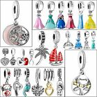 New 925 Silver Charms Necklace Pendant Fit sterling European Bead Bracelet Chain