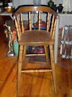 Antique Barrel Back High Chair Or Child's Raised Stool - 31 1/2
