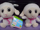 2 lot adorable baby lamb plush stuffed animal valentines day easter nwt