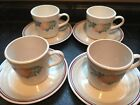 Corelle Corning Ware Abundance 4 Cups and Saucers- Fruit- Slightly Used