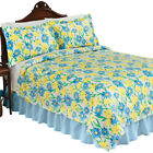 Blue And Yellow Daisy Fleece Lightweight Coverlet by Collections Etc
