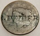 Counter Stamped US Large Cent R. Dedier Dateless