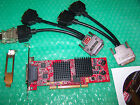ATIFireMV 2400 PCI Quad Display Graphics card + cable to connect 4 monitors