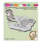 HOUSE MOUSE RUBBER STAMPS CLING SKI RUN STAMP