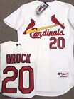 LOU BROCK AUTHENTIC ST LOUIS CARDINALS JERSEY SIZE 40 NEW W TAGS