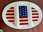Warren Kimble Colonial Oval Divided Patriotic Tray Platter Sakura 1997