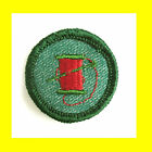 1950s NEEDLEWOMAN NEEDLECRAFT Girl Scout NEW Badge Red Thread Patch Combine