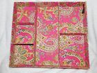 Raymond Waites Jewelry Desk Drawer 6 Part Organizer pinks paisley Cloth on wood
