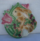 Fitz And Floyd Blackberry Rabbit Plate Collectibl Wall Hanger Easter