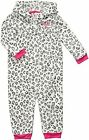 NWT CARTERS GIRLS GRAY LEOPARD HOODED 1pc COVERALL 3M 6M 9M 18M 24M