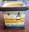 Sakura David Carter Brown Scented Oil Tart Warmer Candle Burner Lighthouse Coast