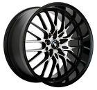 4 NEW Konig 16MB Lace 17x7 5x100 5x1143 +40mm Black Machined Wheels Rims
