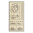 BABY Rubber Stamps SWS056 Stampendous Set of 6 Brand NEW Fran Seiford teddy