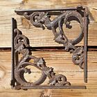 Set of 2 antique style Cast Iron Decorative Shelf Brackets 9.5