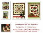 RARE Thimbleberries Club 2012 Pattern Party 4 COMPLETE KITS for the Full Year