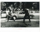 Jean Luc Godards Weekend original 8x10 photo Morris Mini  men fighting in road
