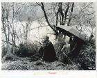 Jean Luc Godards Weekend original 8x10 photocouple under umbrella in woods