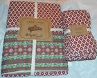April Cornell Holiday Red Green Yellow Foulard Holly Tablecloth 60 X 104 Napkins