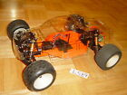 VINTAGE RC10T TRUCK CUSTOM SHELF ART WITH ORANGE POWDER COAT TEAM ASSOCIATED