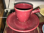 Fiesta DEMITASSE CUP & SAUCER AD  - 1st.-  Retired - STICK HANDLE - CINNABAR