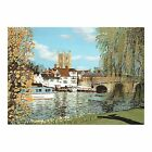 HENLEY BRIDGE OXFORDSHIRE - RIVER THAMES LONDON - MOUTH PAINTING by TREVOR WELLS