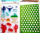 Wild at Heart Recollections Color Splash Clear Acrylic Stamp  Stencil Set NEW