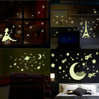 Removable Art Decals 3D Stars Glow in The Dark Vinyl Wall Sticker Home Decor Tip