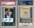 Aaron Rodgers Packers 2005 Playoff Contenders #101 Rookie AUTO Rc PSA 9 x747