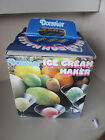 Donvier Ice Cream Maker Hand Crank Yello Rim 2 Pints 1 Quart With Box