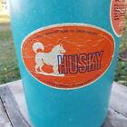 VTG  Dolly Madison HUSKY Ice Cream Freezer Maker Aqua Blue  Bucket Hand Crank