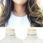 Women Gothic Sequins Chain Choker Necklace Simple Collar Punk Jewelry Shine