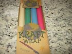 FOUR ROLLS OF CRAFT PAPER 13 1 2 X 30 BEIGE GREEN BLUE RED P2