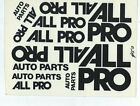JNJ 1/10 SCALE  ALL PRO AUTO PARTS MODEL R/C DECAL, 6