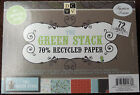 DCWV The Green Stack Recycled Matstack Paper Sheets Scrapbook Crafts Cardstock