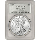 2017 American Silver Eagle PCGS MS70 First Strike Silver Foil Label