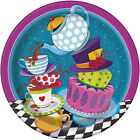 MAD HATTER TEA PARTY LARGE PAPER PLATES 8 Birthday Supplies Dinner Luncheon