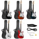 3937 Beginner Sunset Electric Guitar +Bag Case +Cable +Strap +Picks 7 Color