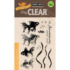 Color Layering Goldfish Clear Acrylic Fish Stamp Set by Hero Arts CL945 NEW