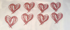 Tim Holtz Die Cuts Heart Scribbles  Pink Cardstock  Set of 8  Sizzix 660222