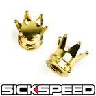 2PC 24K GOLD CROWNS VALVE STEM CROWN CAPS FOR MOTORCYCLE M2